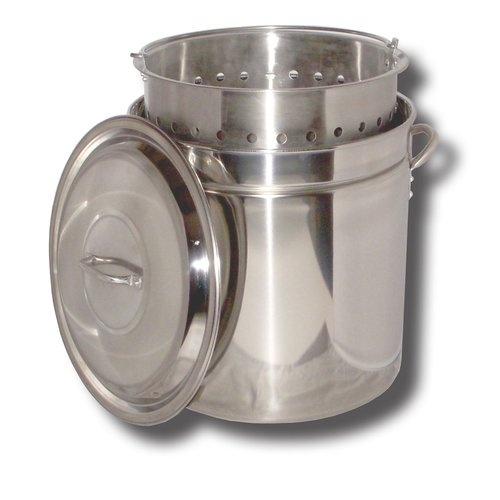 King Kooker #KK36SR 36 qt Stainless Steel Pot, Basket, Lid