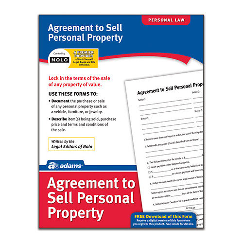 Adams Business Forms Agreement to Sell Personal Property Forms and Instruction (Set of 6) (Set of 288)