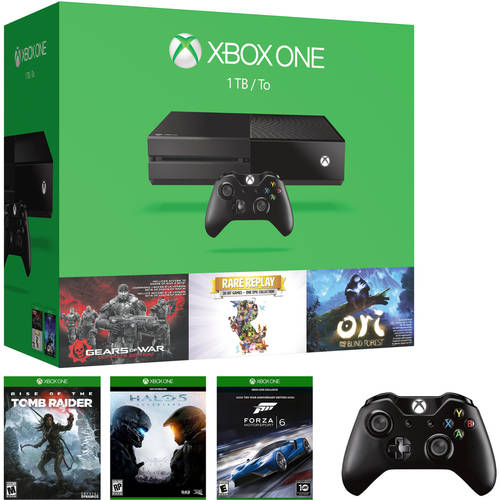 Xbox One 1TB Console Value Bundle with Bonus Gears of War, Rare Replay, Ori, Blind Forest, 2 Bonus Games & Wireless Controller