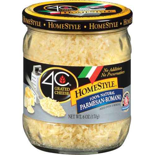 4C HomeStyle Parmesan Romano Grated Cheese, 6 oz
