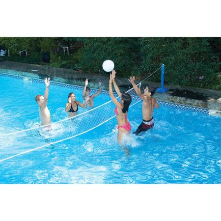 Water Sports Volleyball Cross Swimming Pool Game Weighted Net Supports