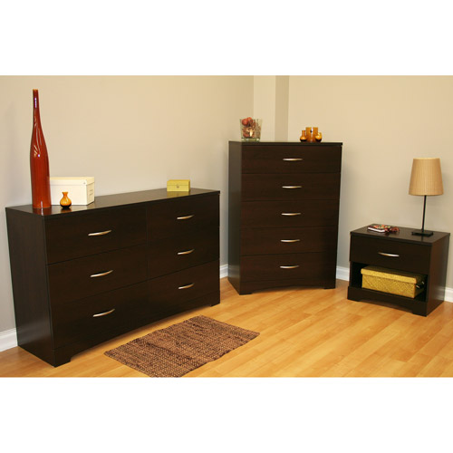 South Shore SoHo 3-Piece Dresser and Nightstand, Multiple Finishes