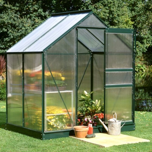 Halls Popular Green 6 x 4-Foot Greenhouse