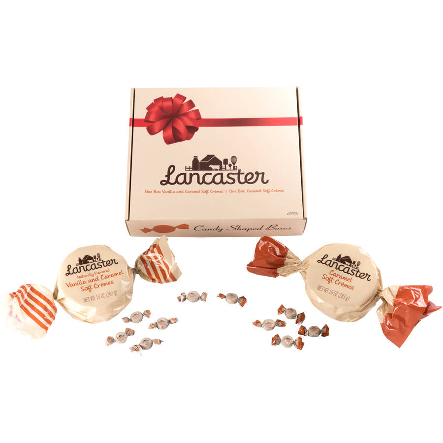 Lancaster Caramel & Vanilla and Caramel Soft Cremes Candy, 10 oz, 2 count