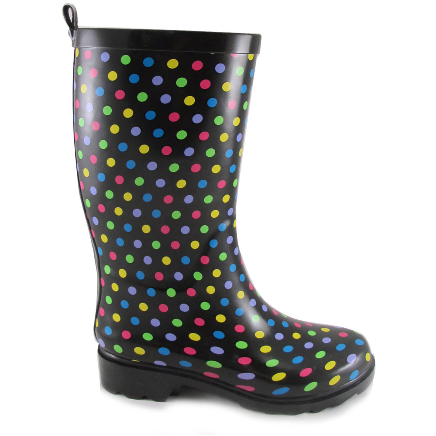 Brilliant Women39s Bubble Dot Rain Boots Shoes  Walmartcom
