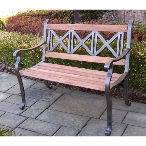 Triple Cross Bench in Antique Bronze