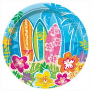 "7"" Hula Girl Luau Party Dessert Plates, 8-Count"