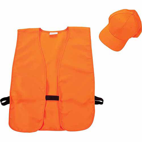 Allen Orange Hat and Vest Combo