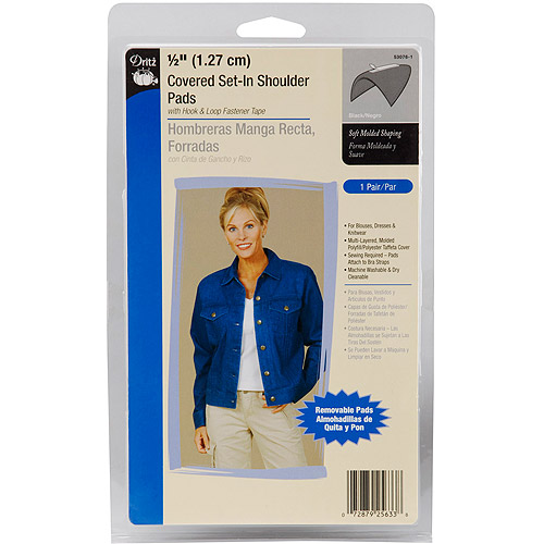 Dritz Covered Set-In Hook and Loop Shoulder Pads