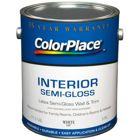 color place interior semi gloss paint white. Black Bedroom Furniture Sets. Home Design Ideas