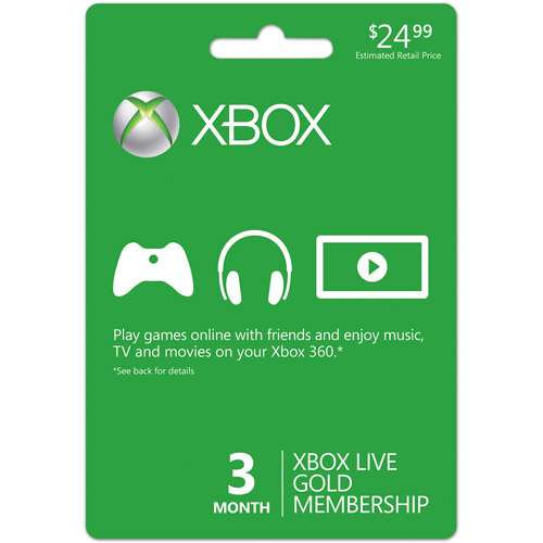 Xbox LIVE 3-Month Gold Card (Xbox 360)