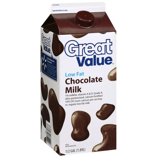 Great Value Low Fat Chocolate Milk, 16 oz