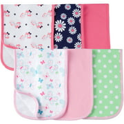 Gerber Newborn Baby Girl Premium Terry Burp Cloths, 6-Pack