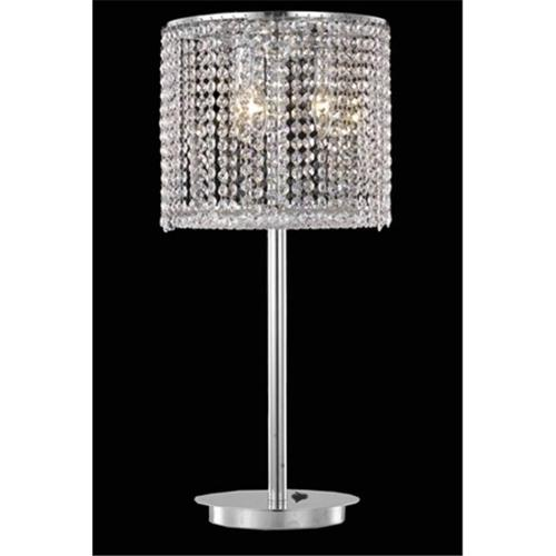 Elegant Lighting 1293TL12C-CL03-RC 12 D x 26 inch Moda Collection Table Lamp - Royal Cut, Chrome