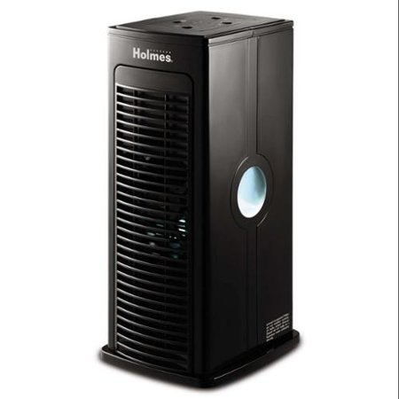 Holmes HAP3000UV-TU Tower Room Air Purifier Tower Fan Mini, Black
