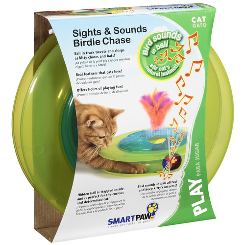 Smartpaw Play Sights & Sounds Birdie Chase Cat Toy, 1ct