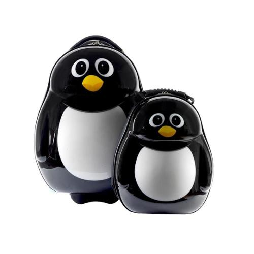 Cuties & Pals Children's Peko Penguin Hardside Luggage Set