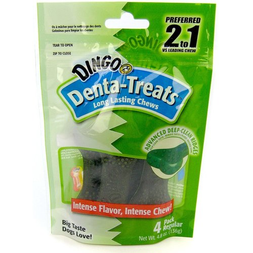Dingo Denta-Treat Breath Freshening Chews Large - 4 Pack