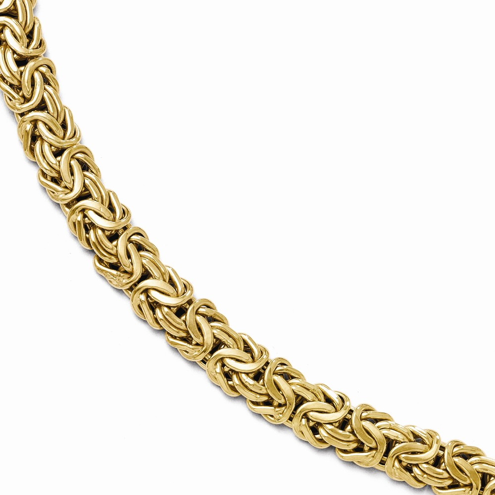 14k Yellow Gold 7.5in Polished Fancy Link Bracelet