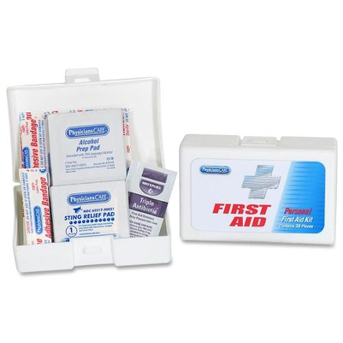 "PhysiciansCare First Aid Kit - 39 x Piece(s) - 2.8"" Height x 4.1"" Width x 1.3"" Depth Length - 1 Each"