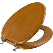 Mainstays Medium Oak Elongated Toilet Seat