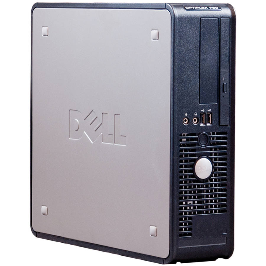 Refurbished Dell Silver 760 Desktop PC with Intel Core 2 Duo Processor, 4GB Memory, 250GB Hard Drive and Windows 7 Professional (Monitor Not Included)