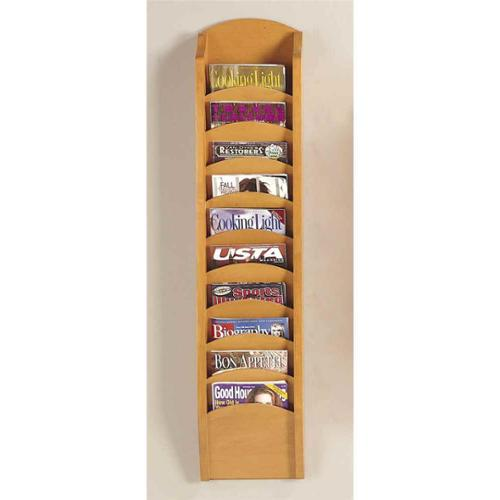 Ten Pocket Magazine Rack (Mahogany)