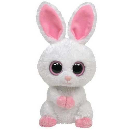 TY Beanie Boos - CARROTS the White Bunny (Solid Eye Color) (Regular Size - 6 inch)