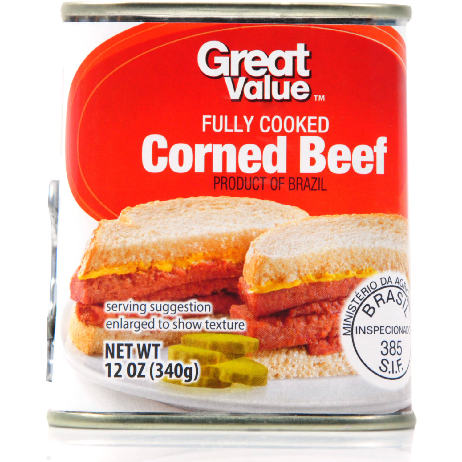 Great Value Corned Beef, 12 oz