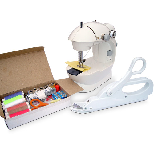 Michley Lil' Sew & Sew Mini Sewing Machine & Accessories 3-Piece Value Bundle