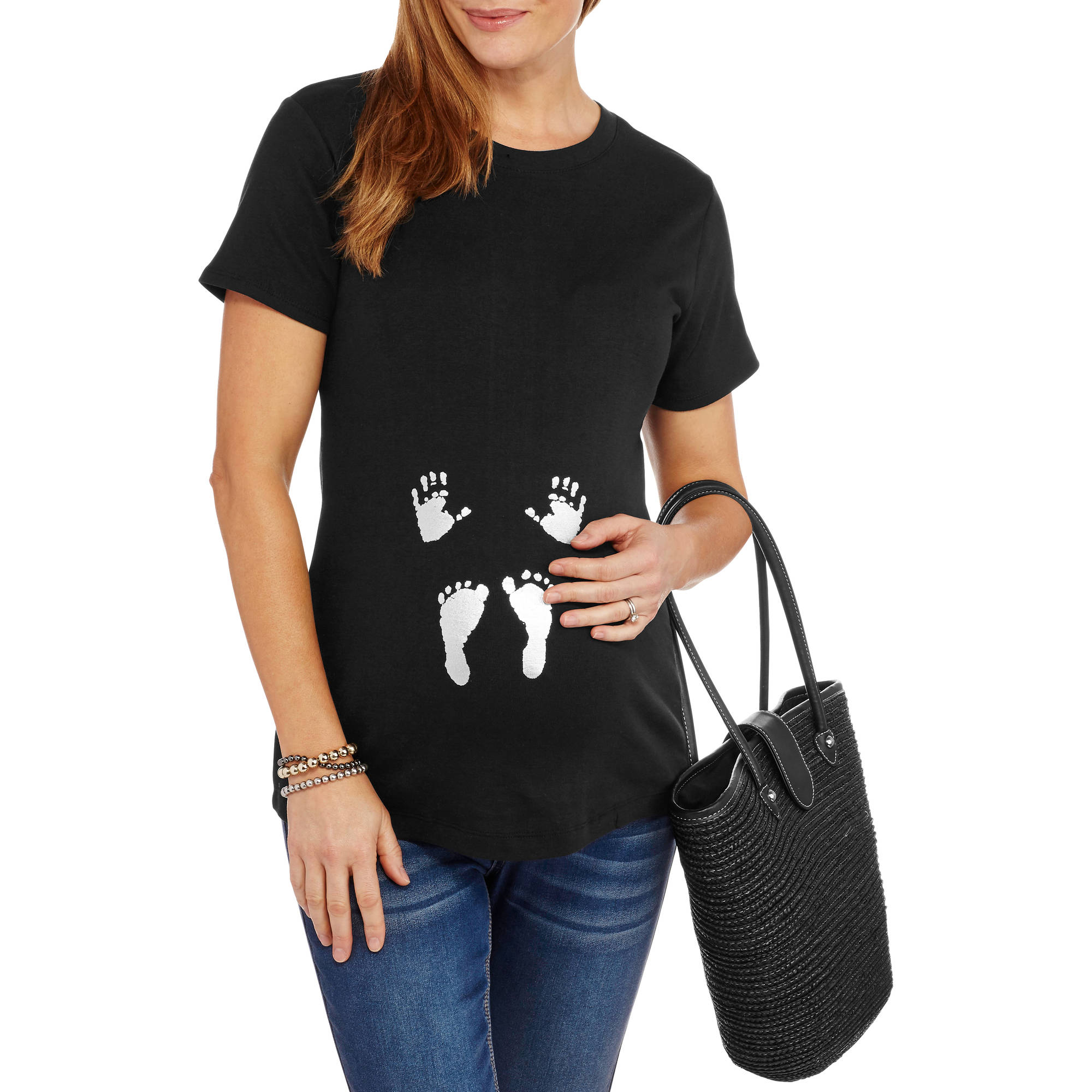Maternity Hands and Feet Graphic Tee