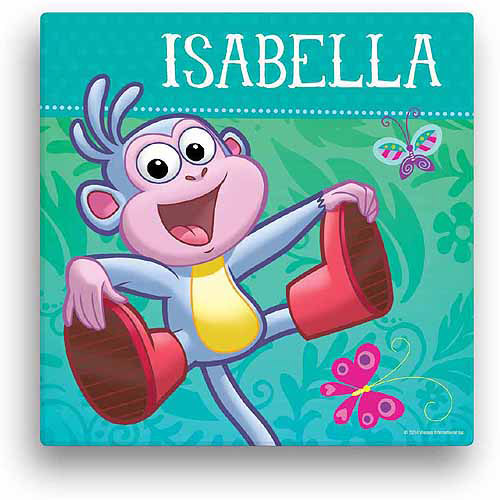 "Personalized Dora the Explorer Boots 16"" x 16"" Canvas Wall Art"