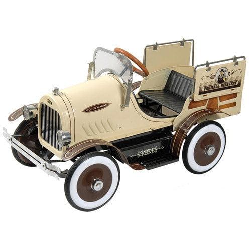 Dexton Kids Woody Wagon Pedal Car