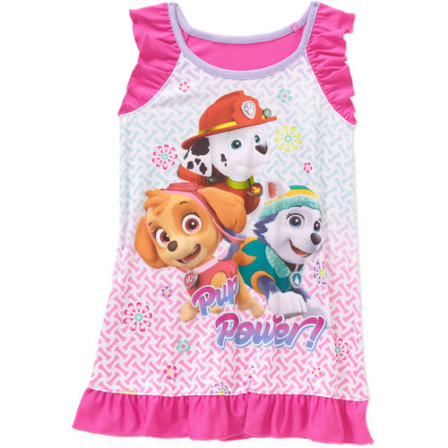 Paw Patrol Baby Toddler Girl Sleeveless Graphic Nightgown