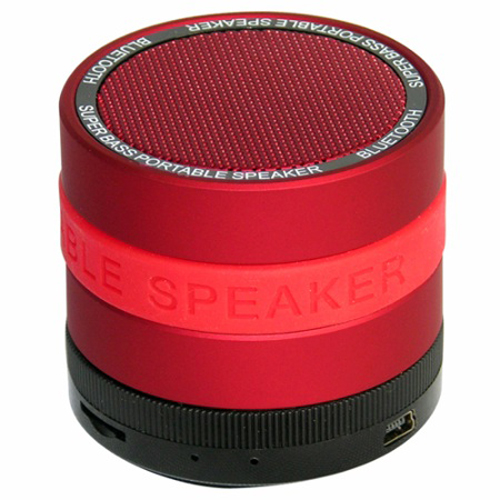 SYN Portable Bluetooth Speaker with 8 Customizable Color Bands- Red Speaker