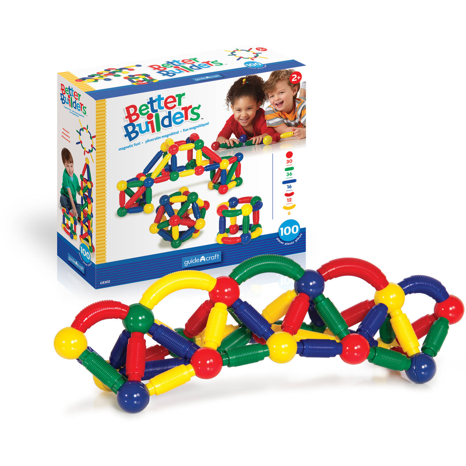 Guidecraft Better Builders Play Set, 100-Piece