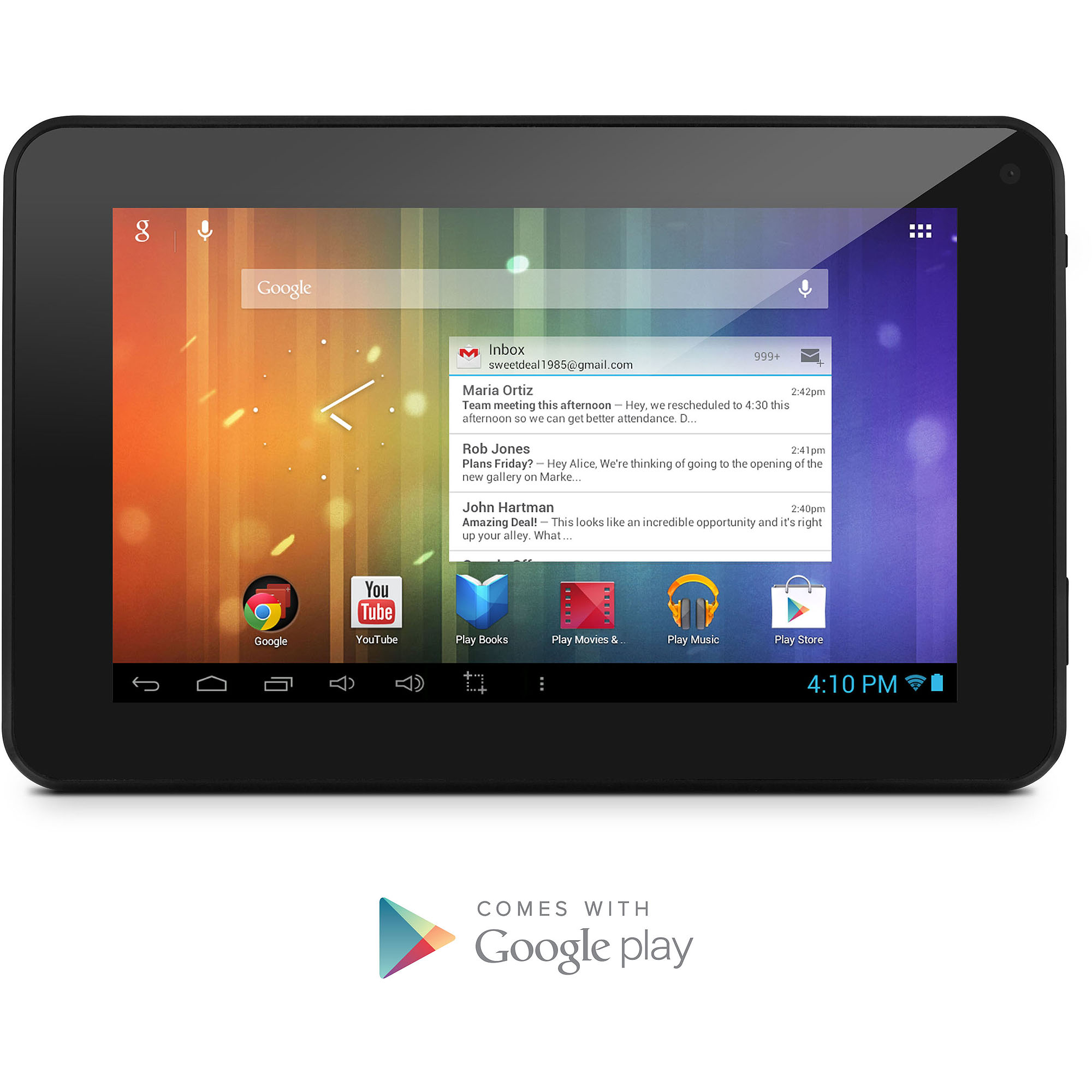 "Ematic 7"" Tablet 4GB Dual Core"