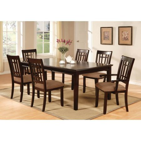 Furniture of america cramer 7 piece dining table set for Cramer furniture