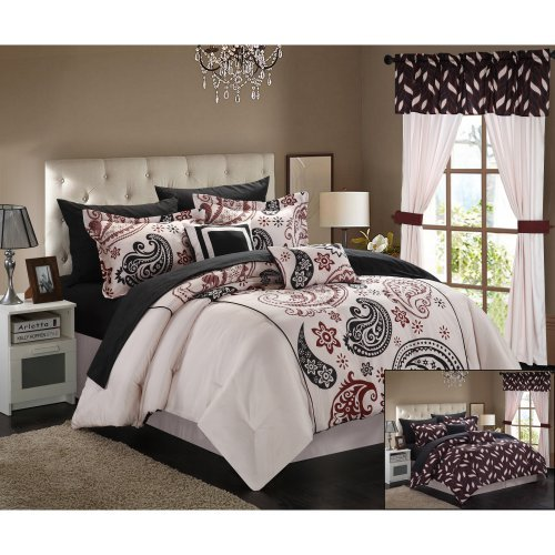 Chic Home Olivia 20 Piece Paisley Print Reversible Comforter Set