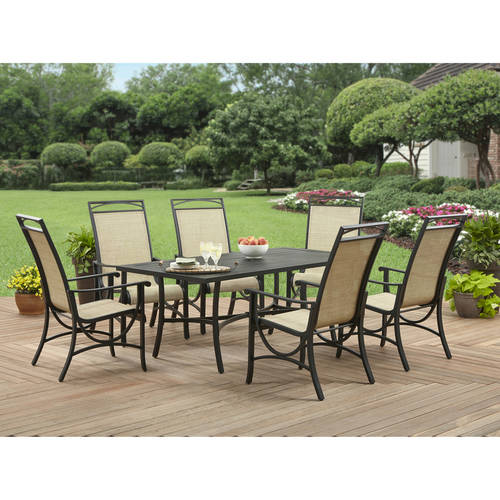 Better Homes and Gardens Pembroke Place 7pc Steel Lumbar Sling Dining Set