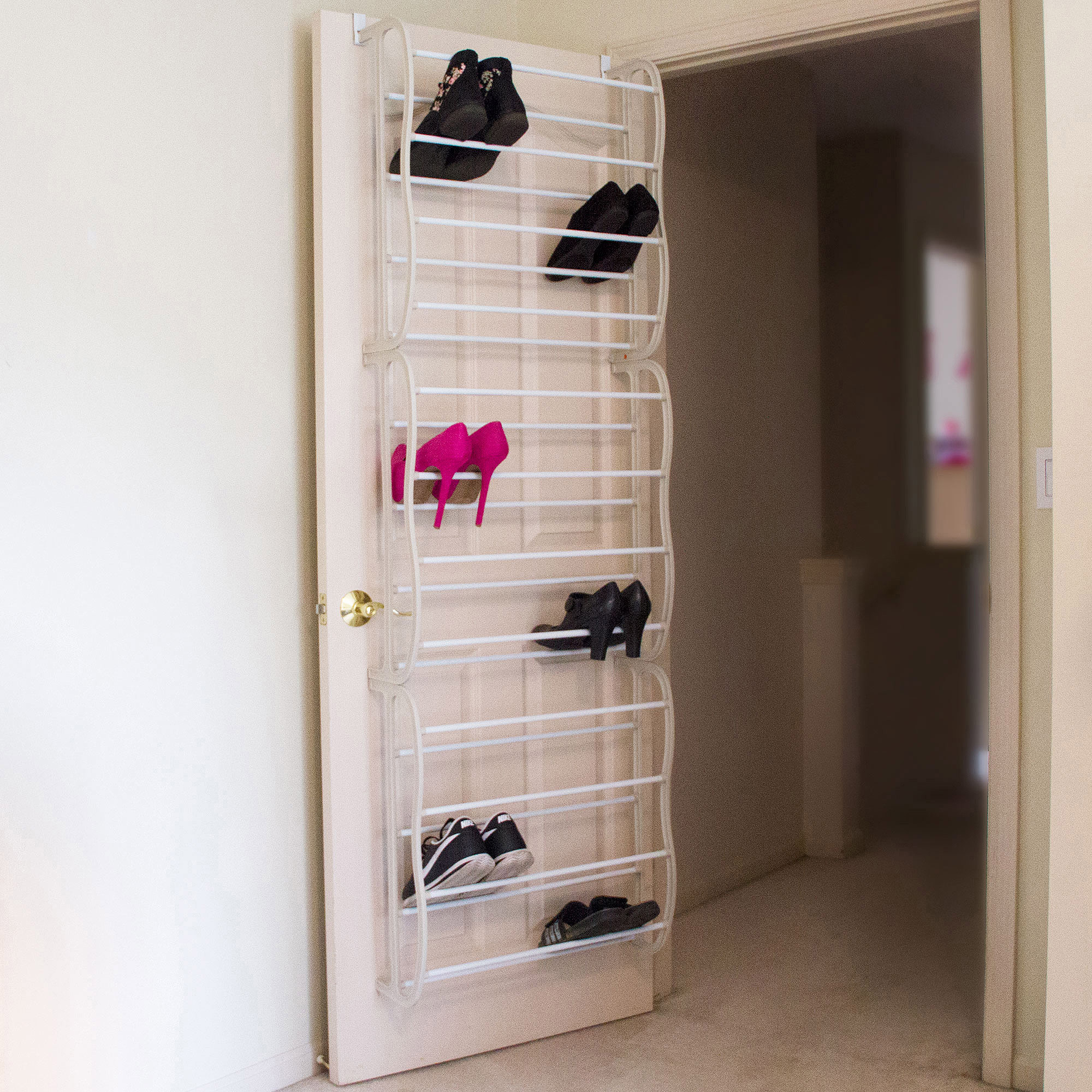 Lavish Home Over-the-Door Shoe Rack Organizer, Fits 36 Shoes