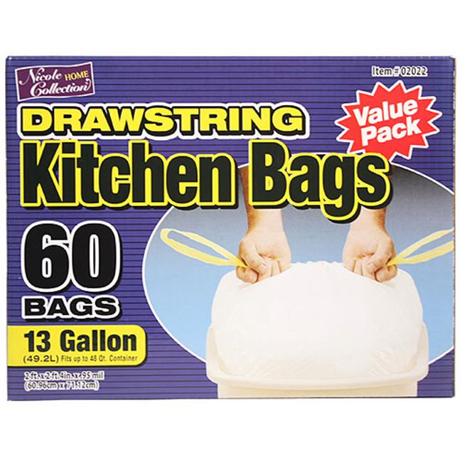 Nicole Home Collection 02022 13 Gallon Tall Kitchen DrawStorageing Trash Bags - 600 Per Case