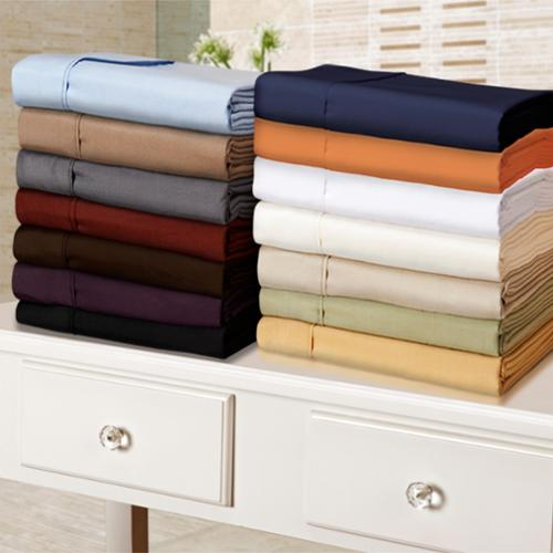 Microfiber Solid Plain 100-percent Wrinkle-free Sheet Set Twin XL- Navy