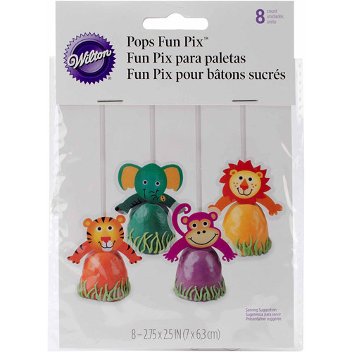 Wilton Treat Pops Pix, Jungle Pals 8 ct. 2113-1122