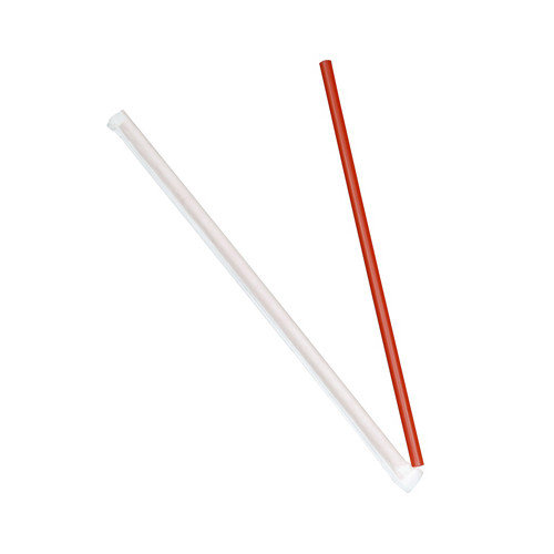 Dixie (1200 per Carton) Wrapped Giant Straws in Red (Set of 2)