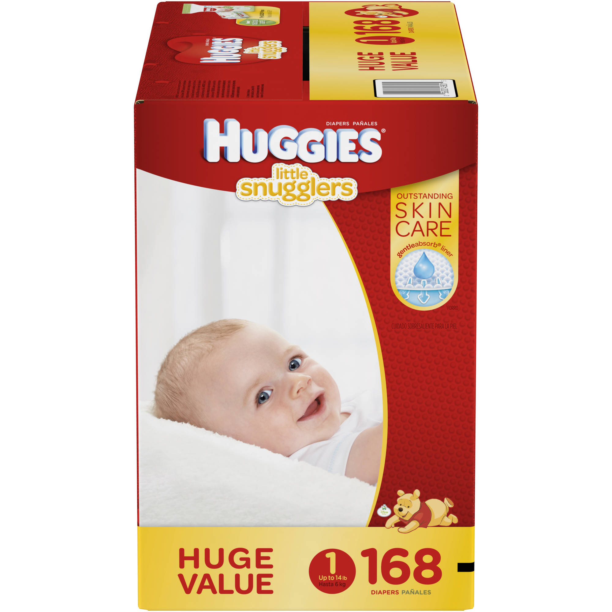 HUGGIES Little Snugglers Baby Diapers, Huge Pack, (Choose Your Size)