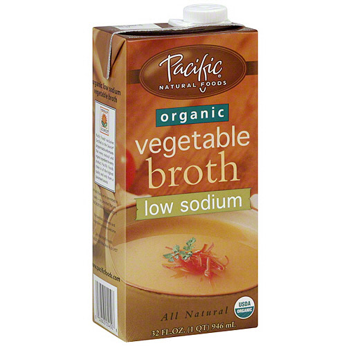 Pacific Natural Foods Organic Low Sodium Vegetable Broth, 32 oz (Pack of 12)