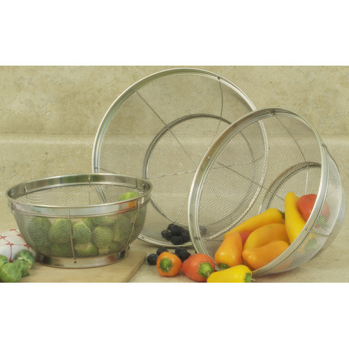 Cook Pro All Purpose 3 Piece Stainless Steel Mesh Colander Set