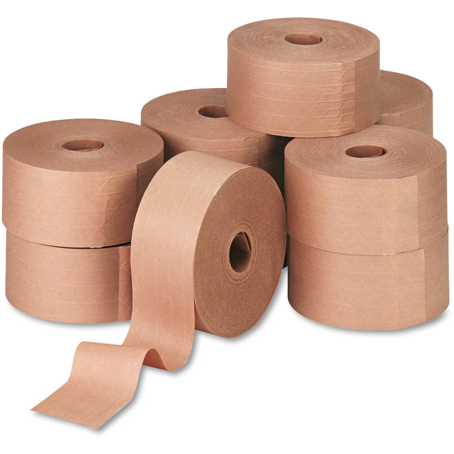 "General Supply Reinforced Kraft Sealing Tape, 3"" x 450', Brown, 10pk"