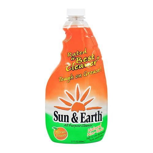 Sun And Earth Natural Non-Toxic All Purpose Cleaner, Citrus Power - 22 Oz